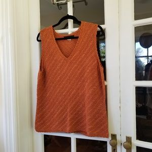 🆕️ Burnt Orange Sleeveless Knit Blouse